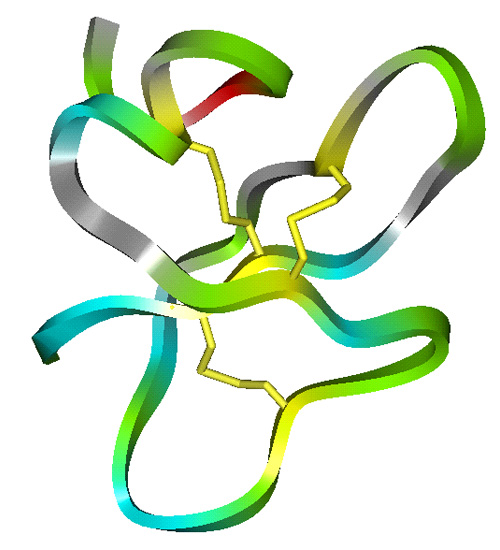 Molecular structure of loop Cationic Antimicrobial peptide